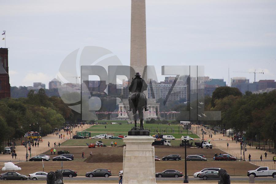 WASHINGTON DC, EUA, 08.10.2019 - TURISMO-WASHINGTON DC - National Mall, visto do Capitolio, com destaque para o Monumento de Washington e o Memorial Lincoln ao fundo, na cidade de Washington DC, capital dos Estados Unidos, nesta terça-feira, 8. (Foto Charles Sholl/Brazil Photo Press/Folhapress)