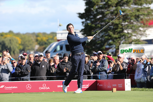 Rory McIlroy (Team Europe) during Tuesday's Practice Round ahead of The 2016 Ryder Cup, at Hazeltine National Golf Club, Minnesota, USA.  27/09/2016. Picture: David Lloyd | Golffile.