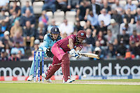 Nicholas Pooran (West Indies) pushes into the on side for a single during England vs West Indies, ICC World Cup Cricket at the Hampshire Bowl on 14th June 2019