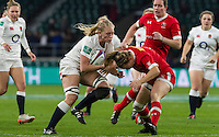 Alex Matthews in action, England Women v Canada Women in an Old Mutual Wealth Series, Autumn International match at Twickenham Stadium, London, England, on 26th November 2016. Full time score 39-6