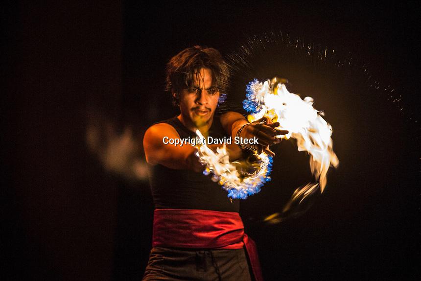 Quer&eacute;taro, Qro. 10 de Agosto de 2017.- Aspectos de la funci&oacute;n de danza contempor&aacute;nea &quot;Vulcano&quot; que estren&oacute; este jueves en el Museo de la Ciudad.<br /> <br /> Foto: David Steck