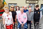 Michael Parker gets a surprise 50th birthday party from his family in Kilflynn on Sunday.  L to r: Eileen Brennan, Geraldine and Hazel Parker, John Brennan, Michael Snr and Gavin Parker.