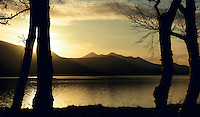 A winter scene over Lough Lein as viewed from the golf course shoreline..Picture by Don MacMonagle
