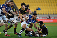 Auckland&rsquo;s TJ Faiane in action during the Mitre 10 Cup - Wellington v Auckland at Westpac Stadium, Wellington, New Zealand on Thursday 4 October 2018. <br /> Photo by Masanori Udagawa. <br /> www.photowellington.photoshelter.com