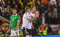 Marco Reus (Deutschland, Germany) treibt seine Mitspieler an - 09.09.2019: Nordirland vs. Deutschland, Windsor Park Belfast, EM-Qualifikation DISCLAIMER: DFB regulations prohibit any use of photographs as image sequences and/or quasi-video.