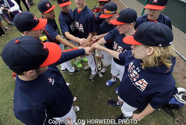 Game Day USA U-14 All Stars vs. Indiana Bulls, Disney New Year's Baseball Classic, Kissimmee, Florida, 12-31-13.