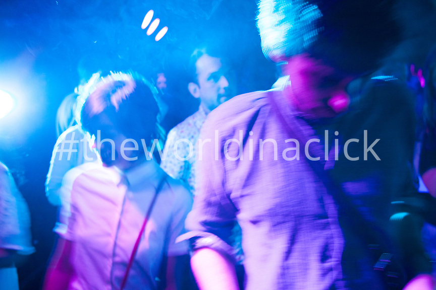 RUSSIA, Moscow. Young Muscovites at a club.