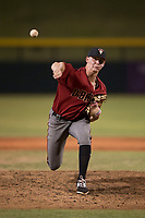 AZL Diamondbacks relief pitcher Harrison Francis (38) delivers a pitch during an Arizona League game against the AZL Cubs 1 at Sloan Park on June 18, 2018 in Mesa, Arizona. AZL Diamondbacks defeated AZL Cubs 1 7-0. (Zachary Lucy/Four Seam Images)