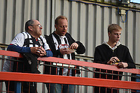 Grimsby Town fans prior to the Vanarama National League match between Aldershot Town and Grimsby Town at the EBB Stadium, Aldershot, England on 5 April 2016. Photo by Paul Paxford / PRiME Media Images.