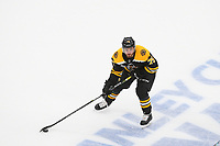 June 6, 2019: Boston Bruins defenseman Connor Clifton (75) in game action during game 5 of the NHL Stanley Cup Finals between the St Louis Blues and the Boston Bruins held at TD Garden, in Boston, Mass. The Blues defeat the Bruins 2-1 in regulation time. Eric Canha/CSM
