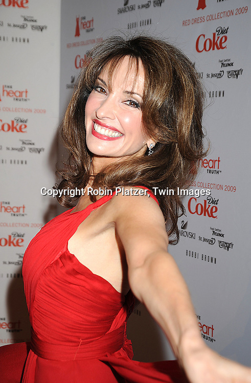 Susan Lucci in Gustavo Cadile dress..at The Heart Truth's Red Dress Fashion Show on February 12, 2009 at Mercedes Benz FAshion Week. Swarovski was one of the sponsers for this show. ....Robin Platzer, Twin Images
