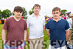 Jack Hughes, Senan O'Dwyer and Steven Riordan enjoying the Castleisland Races on Sunday..