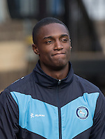 Injured defender Anthony Stewart of Wycombe Wanderers during the Sky Bet League 2 match between Wycombe Wanderers and Hartlepool United at Adams Park, High Wycombe, England on 5 September 2015. Photo by Andy Rowland.