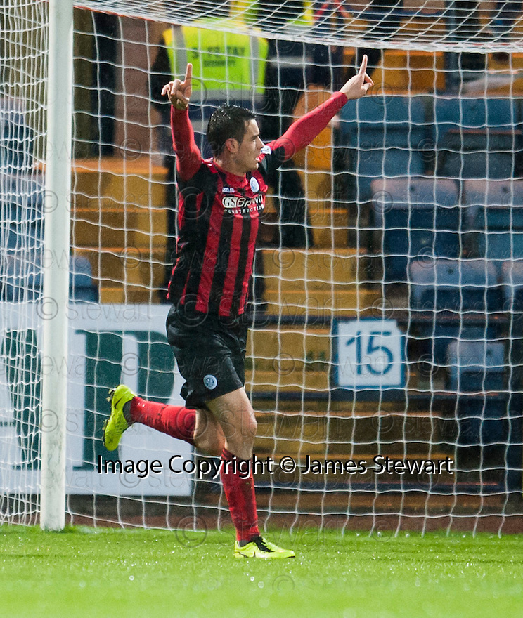 St Johnstone's Brian Graham celebrates after he scores from the penalty spot.