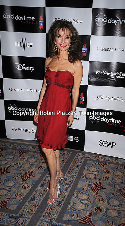 Susan Lucci in Badgley Mischka dress.posing for photographers at The 4th Annual ABC Daytime Salutes Broadway Cares/Equity Fights Aids Benefit Post Party on March 2, 2008 at The Marriott Marquis in New York City..Robin Platzer, Twin Images