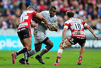 Semesa Rokoduguni of Bath Rugby takes on the Gloucester Rugby defence. Aviva Premiership match, between Gloucester Rugby and Bath Rugby on October 1, 2016 at Kingsholm Stadium in Gloucester, England. Photo by: Patrick Khachfe / Onside Images
