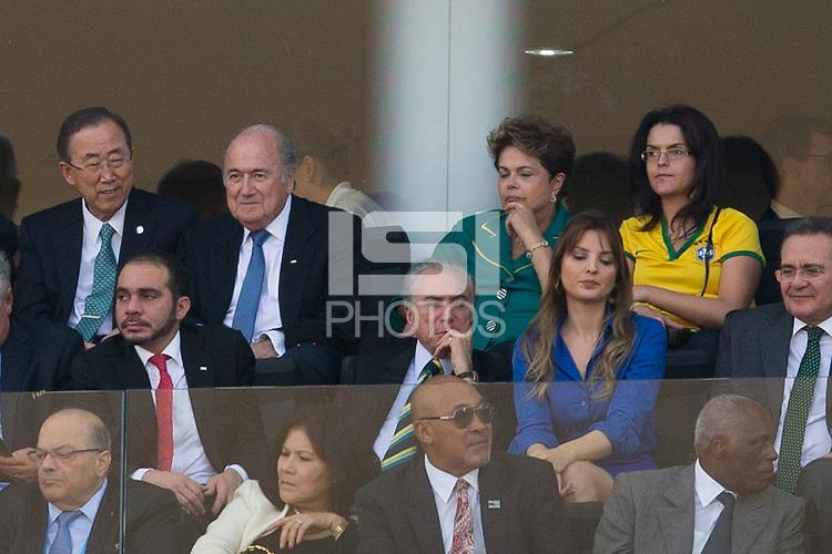 FIFA President Sepp Blatter with Brazil president Dilma Rousseff