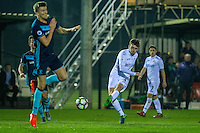 Monday  19 December 2014<br /> Pictured: Ryan Blair of Swansea City crosses the ball<br /> Re: Swansea City U23 v Middlesbrough u23 at the Landore Training Facility, Swansea, Wales, UK