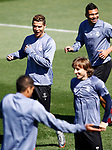 Real Madrid's Cristiano Ronaldo, Carlos Henrique Casemiro, Raphael Varane and Luka Modric during training session. May 1,2017.(ALTERPHOTOS/Acero)