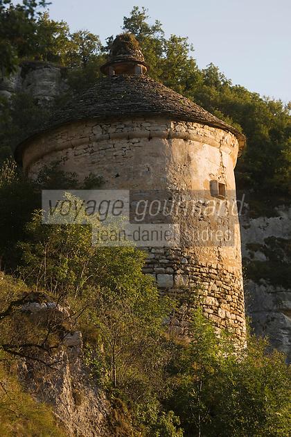 Europe/France/Midi-Pyrénées/46/Lot/Rocamadour: Caselle - Pigeonnier en pierre séche