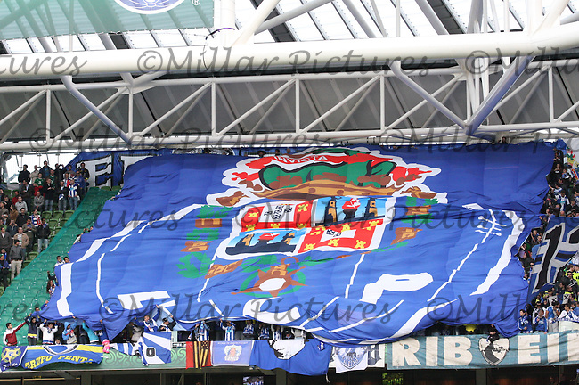 A huge FC Porto banner in the crowd in the Europa League Final, Dublin Arena, 18.5.11