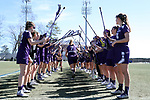 DURHAM, NC - FEBRUARY 18: Northwestern's Sheila Nesselbush (7). The Duke University Blue Devils hosted the Northwestern University Wildcats on February 18, 2018, at Koskinen Stadium in Durham, NC in women's college lacrosse match. Duke won the game 9-8.