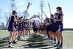 DURHAM, NC - FEBRUARY 18: Northwestern's Sheila Nesselbush (7). The Duke University Blue Devils hosted the Northwestern University Wildcats on February 18, 2018, at Koskinen Stadium in Durham, NC in women's college lacrosse match. Duke won the game 9-8.