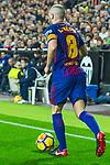 Andres Iniesta Lujan of FC Barcelona runs with the ball during the La Liga 2017-18 match between Valencia CF and FC Barcelona at Estadio de Mestalla on November 26 2017 in Valencia, Spain. Photo by Maria Jose Segovia Carmona / Power Sport Images