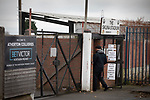 A spectator paying in at the turnstiles before Atherton Collieries played Boston United in the FA Trophy third qualifying round at the Skuna Stadium. The home club were formed in 1916 and having secured three promotions in five season played in the Northern Premier League premier division. This was the furthest they had progressed in the FA Trophy and defeated their rivals from the National League North by 1-0, Mike Brewster scoring a late winner watched by a crowd of 303 spectators.