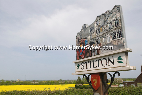 Stilton village sign. Cambridgeshire UK 2008.