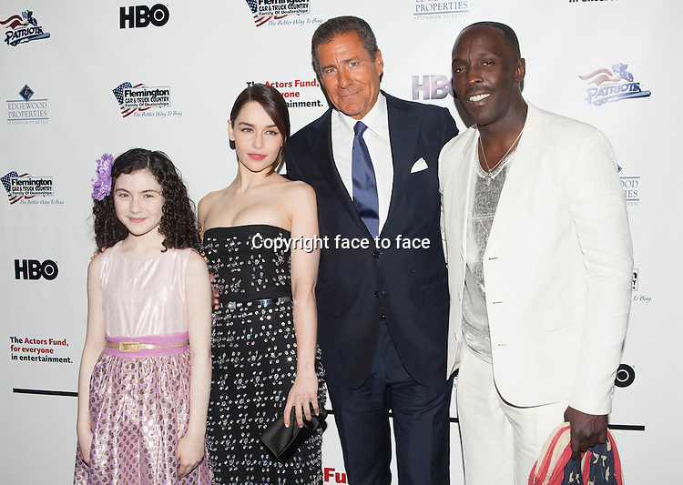 NEW YORK, NY - APRIL 29: Lilla Crawford, Emilia Clarke, Richard Plepler and Michael K. Williams.attend the 2013 Actors Fund's Annual Gala honoring Robert De Niro at The New York Marriott Marquis on April 29, 2013 in New York City. ..Credit: MediaPunch/face to face..- Germany, Austria, Switzerland, Eastern Europe, Australia, UK, USA, Taiwan, Singapore, China, Malaysia, Thailand, Sweden, Estonia, Latvia and Lithuania rights only -