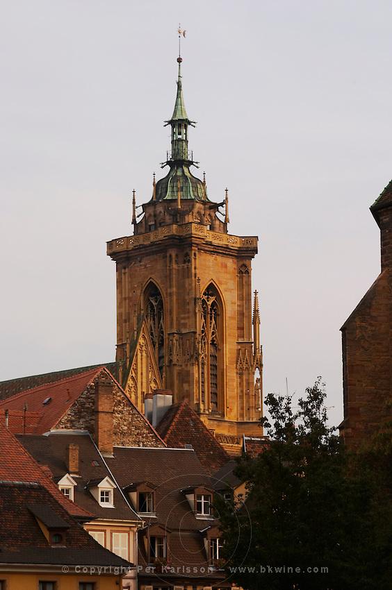 Collegiale Saint Martin church tower colmar alsace france