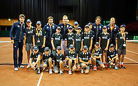 15-sept.-2013,Netherlands, Groningen,  Martini Plaza, Tennis, DavisCup Netherlands-Austria, ,   Ballkids with Dutch team<br /> Photo: Henk Koster
