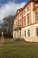 Detail from the garden entrance to Castle Libechov in the Czech Republic. The Castle is in complete decay.