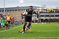 Semesa Rokoduguni of Bath Rugby runs in the opening try of the match. European Rugby Champions Cup match, between Bath Rugby and Wasps on December 19, 2015 at the Recreation Ground in Bath, England. Photo by: Patrick Khachfe / Onside Images