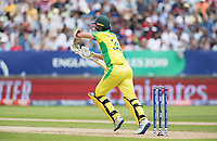 Pat Cummins (Australia) is squared up by short delivery from Archer during Australia vs England, ICC World Cup Semi-Final Cricket at Edgbaston Stadium on 11th July 2019