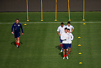 Carson, CA - Tuesday, April 21, 2015: The USMNT U-23s train prior to their match vs Mexico at StubHub Center.