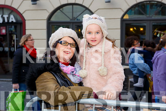 Waiting for Santa at CH Chemist Christmas Parade Tralee on Saturday were Bernie Hayes and Kelly Hayes