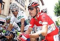 Alejandro Valverde (l) and Joaquin Purito Rodriguez during the stage of La Vuelta 2012 between Logroño and Logroño.August 22,2012. (ALTERPHOTOS/Acero) /NortePhoto.com<br /> <br /> **SOLO*VENTA*EN*MEXICO**<br /> **CREDITO*OBLIGATORIO**<br /> *No*Venta*A*Terceros*<br /> *No*Sale*So*third*<br /> *** No Se Permite Hacer Archivo**<br /> *No*Sale*So*third*