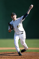 February 21, 2009:  Pitcher Steve Morrison (48) of West Virginia University during the Big East-Big Ten Challenge at Jack Russell Stadium in Clearwater, FL.  Photo by:  Mike Janes/Four Seam Images