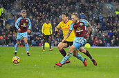 9th December 2017, Turf Moor, Burnley, England; EPL Premier League football, Burnley versus Watford; Scott Arfield of Burnley fires in the opening goal of the game in the 45th minute