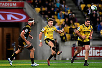 Hurricanes&rsquo; Beauden Barrett in action during the Super Rugby - Hurricanes v Chiefs at Westpac Stadium, Wellington, New Zealand on Saturday  27 April 2019. <br /> Photo by Masanori Udagawa. <br /> www.photowellington.photoshelter.com