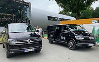Fahrbereitschaft der Nationalmannschaft steht nun mit Bussen des neuen Automobil-Sponsors Volkswagen bereit - 04.06.2019: Pressekonferenz der Deutschen Nationalmannschaft zur EM-Qualifikation in Venlo/NL