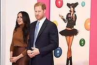 07/01/2020 - Prince Harry Duke of Sussex and Meghan Duchess of Sussex Markle are shown a special exhibition of art by Indigenous Canadian artist, Skawennati, in the Canada Gallery during a visit to Canada House, in London, in thanks for the warm Canadian hospitality and support they received during their recent stay in Canada. Photo Credit: ALPR/AdMedia