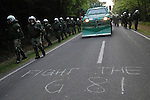 Protest and blockade actions of the G8 summit 2008 in Heiligendamm (Germany).