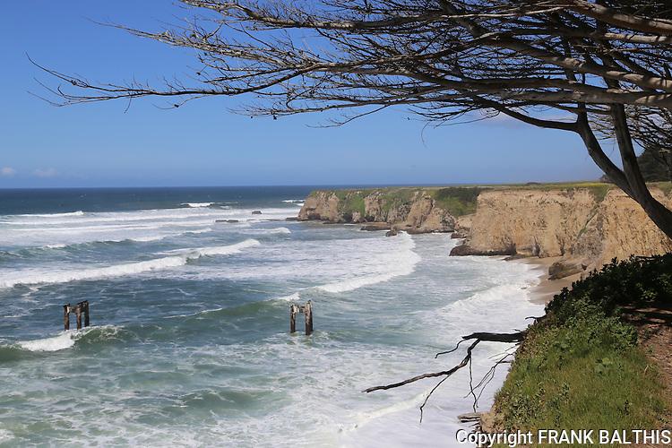 Coastal cliffs at Davenport, CA