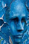 Blue Face Art