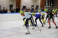 SCHAATSEN: LEEUWARDEN: 30-09-2015, Elfstedenhal, 1e competitiewedstrijd Mass Start, Jan Blokhuijsen (#8), ©foto Martin de Jong