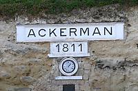Sign 1811. Ackerman Laurance, Saumur, Loire, France