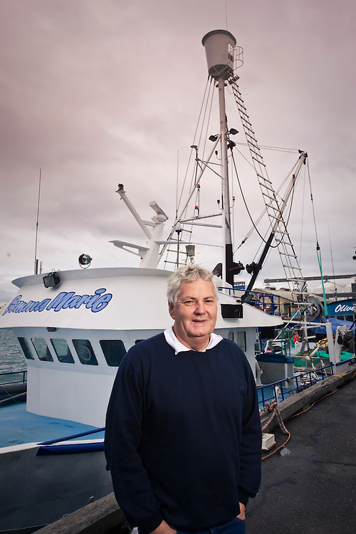 Peter White of Port Lincoln Sardine near his boat.